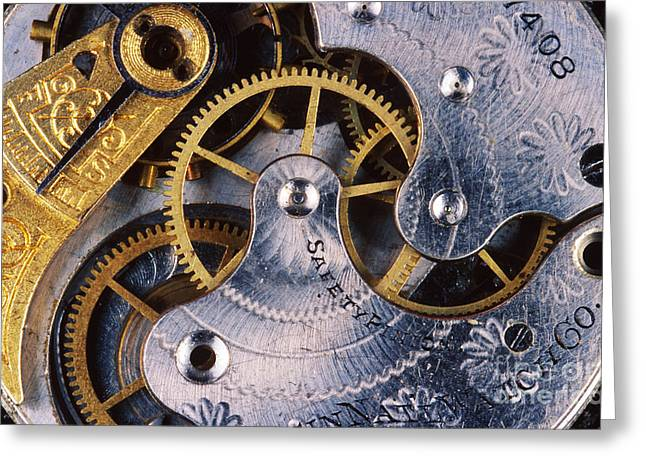 Mechanism Greeting Cards - Pocket Watch Greeting Card by Gregory G. Dimijian