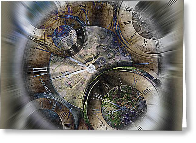 What Is Life? Mixed Media Greeting Cards - Pocketwatches 2 Greeting Card by Steve Ohlsen