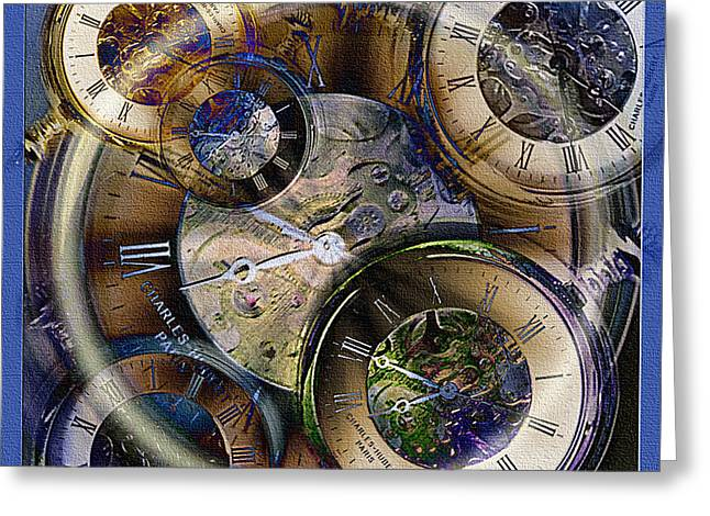 What Is Life? Mixed Media Greeting Cards - Pocketwatches Greeting Card by Steve Ohlsen