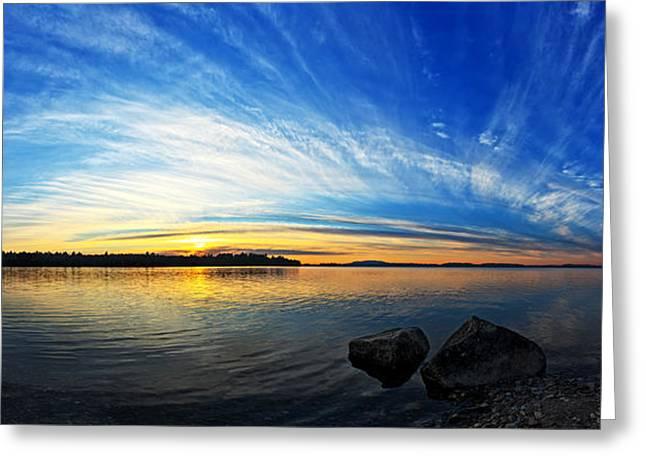 Pocomoonshine Sunset 1 Panorama Greeting Card by Bill Caldwell -        ABeautifulSky Photography
