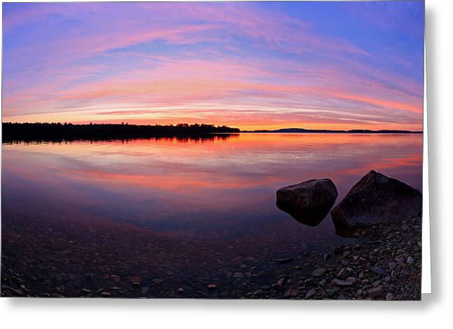 Modern Photographs Greeting Cards - Pocomoonshine Sunset 2 Panorama Greeting Card by Bill Caldwell -        ABeautifulSky Photography