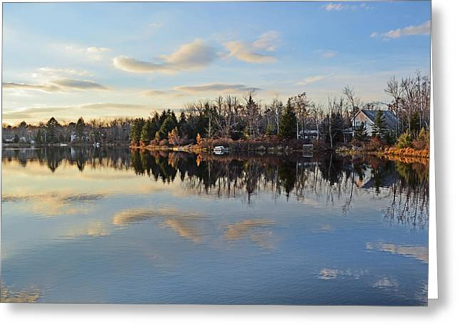 Mountain Reflection Lake Summit Mirror Greeting Cards - Pocono Summit Lake Greeting Card by Gary Keesler