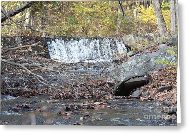 Water Falling Down Rocks Greeting Cards - Poconos Waterfall and Stream In the Fall Greeting Card by John Telfer