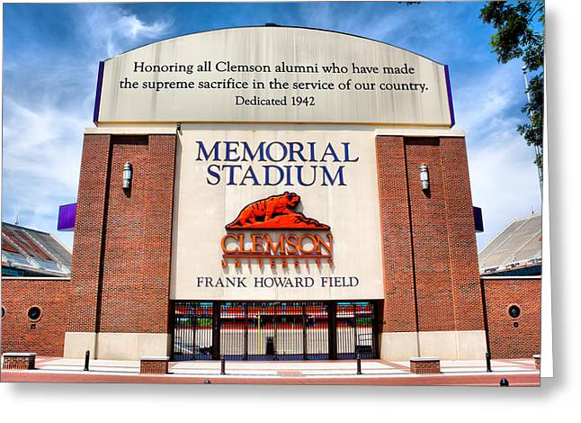 Frank Howard Greeting Cards - Poe Plaza - Clemson University Greeting Card by Lynne Jenkins