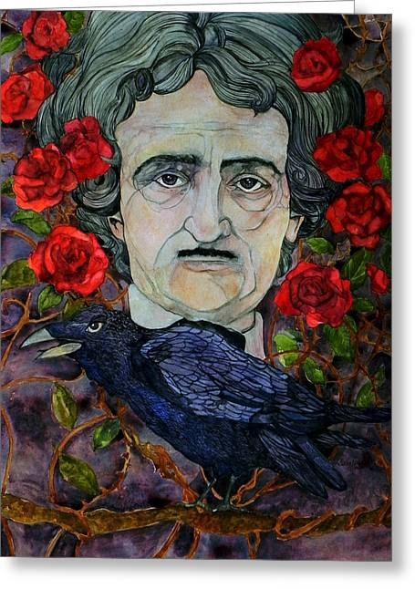 Stacey Pilkington-smith Greeting Cards - Poe Greeting Card by Stacey Pilkington-Smith