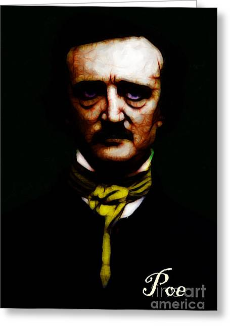 Mustaches Digital Greeting Cards - Poe Greeting Card by Wingsdomain Art and Photography