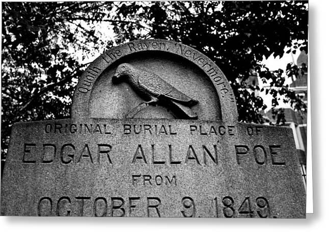 Poe's Original Burial Place Greeting Card by Jennifer Lyon