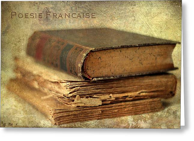 Torn Greeting Cards - Poesie Francaise Greeting Card by Jessica Jenney