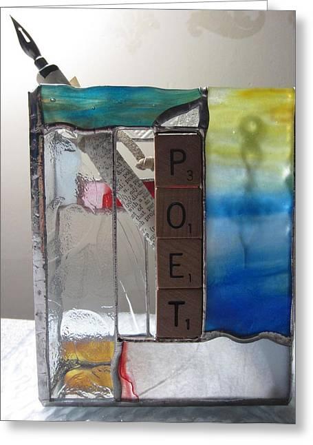 Poet Windowsill Box Greeting Card by Karin Thue