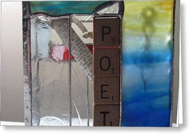 Poet Windowsill Box Greeting Card by Karin Thue