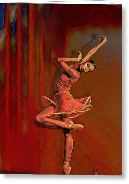 Dancer Digital Greeting Cards - Poetry In Motion Greeting Card by  Fli Art