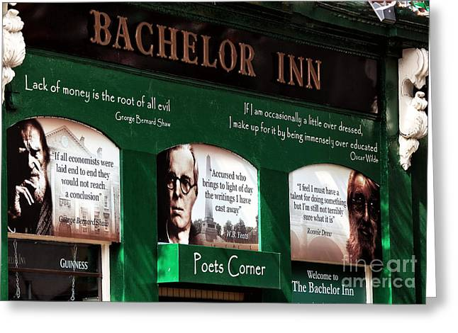 Yeats Greeting Cards - Poets Corner Greeting Card by John Rizzuto
