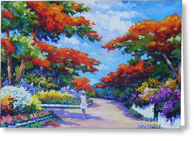 South Sound Greeting Cards - Poinciana Paradise  20x16 Greeting Card by John Clark