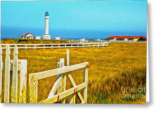 Gregory Dyer Greeting Cards - Point Arena Lighthouse Greeting Card by Gregory Dyer