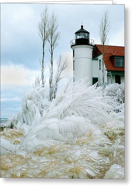 Point Betsie Lighthouse In Michigan Greeting Card by Julie Ketchman