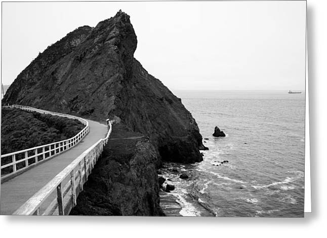 California Art Greeting Cards - Point Bonita Cove Greeting Card by Clay Townsend