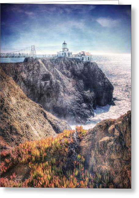 California Lighthouse Greeting Cards - Point Bonita Lighthouse - Marin Headlands 5 Greeting Card by The  Vault - Jennifer Rondinelli Reilly