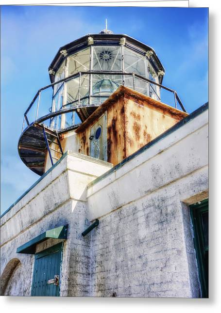 California Lighthouse Greeting Cards - Point Bonita Lighthouse - Marin Headlands 6 Greeting Card by The  Vault - Jennifer Rondinelli Reilly