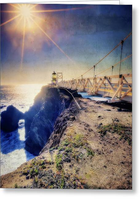 California Lighthouse Greeting Cards - Point Bonita Lighthouse - Marin Headlands 7 Greeting Card by The  Vault - Jennifer Rondinelli Reilly