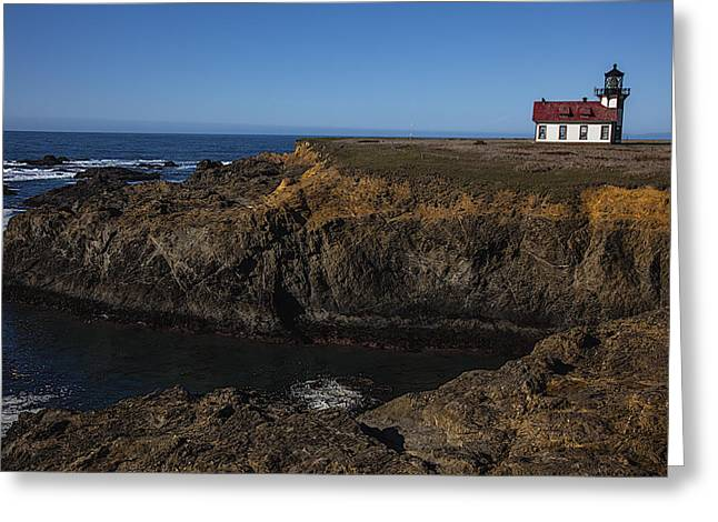 Points Greeting Cards - Point Cabrillo Lighthouse Greeting Card by Garry Gay