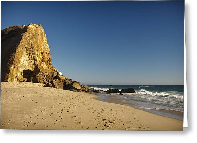 Places Photographs Greeting Cards - Point Dume at Zuma Beach Greeting Card by Adam Romanowicz