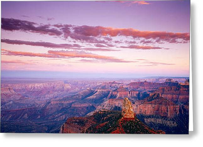 Nature Scene Greeting Cards - Point Imperial At Sunset, Grand Canyon Greeting Card by Panoramic Images