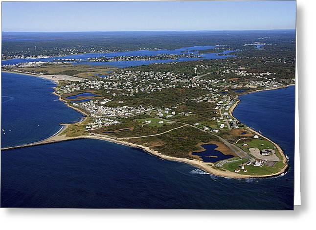 Oblique Greeting Cards - Point Judith, Rhode Island Greeting Card by Dave Cleaveland