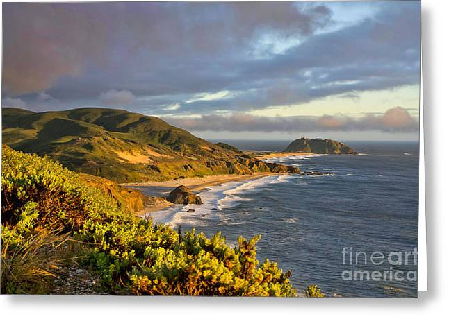 Point Lobos Reserve Greeting Cards - Point Sur Greeting Card by Karen English