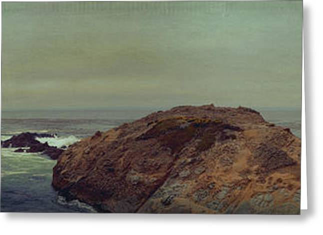 Point Lobos Greeting Cards - Point Lobos panorama 12 Greeting Card by Angela A Stanton