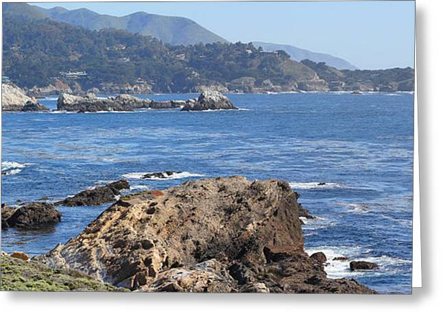 Ocean Panorama Greeting Cards - Point Lobos Panorama Greeting Card by Jack Schultz