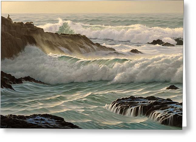 Point Lobos Seascape    Greeting Card by Paul Krapf