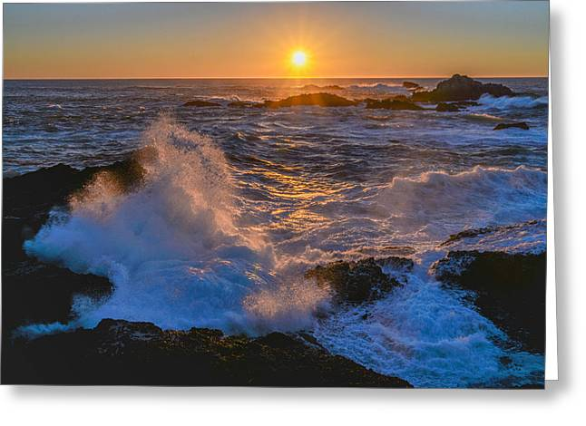 Point Lobos Photographs Greeting Cards - Point Lobos Sunset Greeting Card by About Light  Images