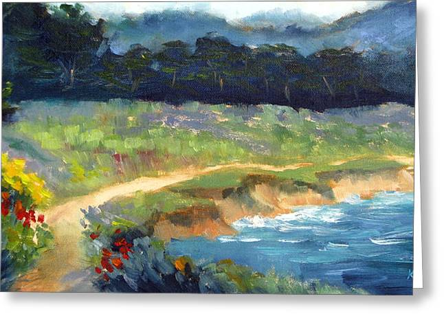 Point Lobos Greeting Cards - Point Lobos Trail Greeting Card by Karin  Leonard