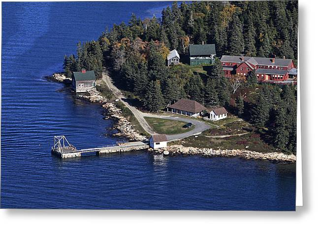 Point Lookout, At The Isle Of Haut Greeting Card by Dave Cleaveland