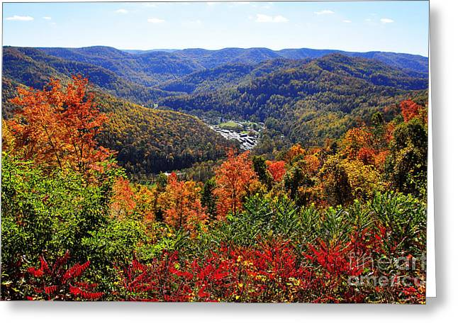 Webster County Greeting Cards - Point Mountain Overlook in Autumn Greeting Card by Thomas R Fletcher
