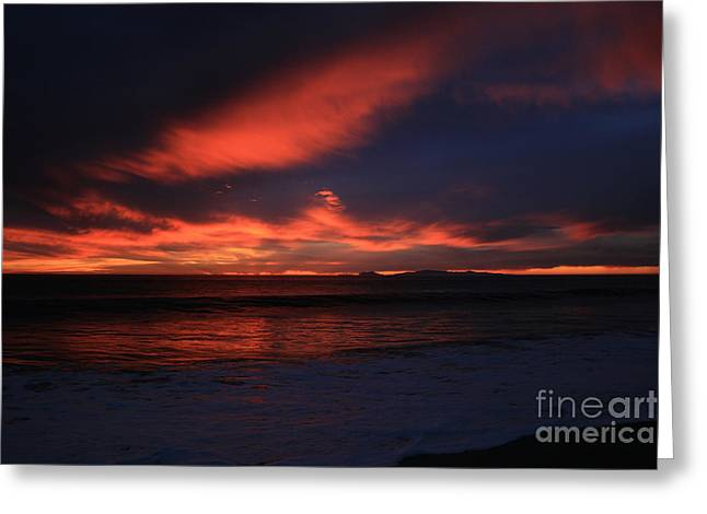 Ian Donley Greeting Cards - Point Mugu 1-9-10 Just After Sunset Greeting Card by Ian Donley