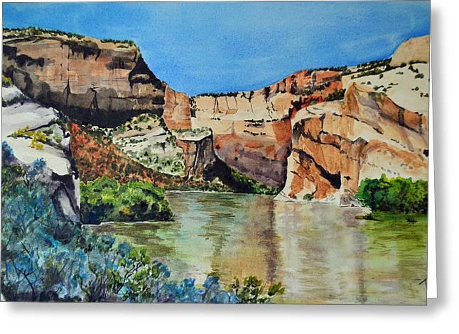 Terri Waters Paintings Greeting Cards - Point of No Return Greeting Card by Terri Robertson
