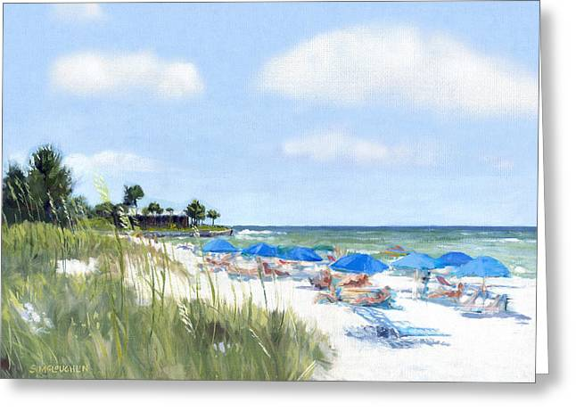 Sea Oats Greeting Cards - Point of Rocks on Siesta Key Greeting Card by Shawn McLoughlin