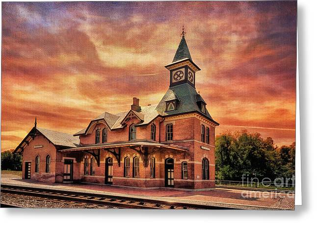 Depot Greeting Cards - Point of Rocks Train Station  Greeting Card by Lois Bryan