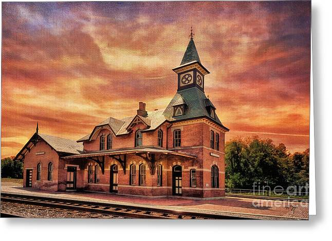 Point Of Rocks Train Station  Greeting Card by Lois Bryan