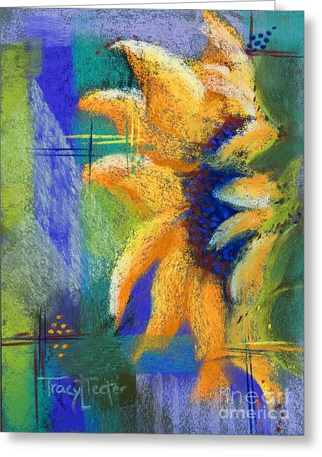 Olives Pastels Greeting Cards - Point of View Greeting Card by Tracy L Teeter