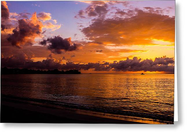Jamaican Sunsets Greeting Cards - Point Paradise Greeting Card by Todd Reese