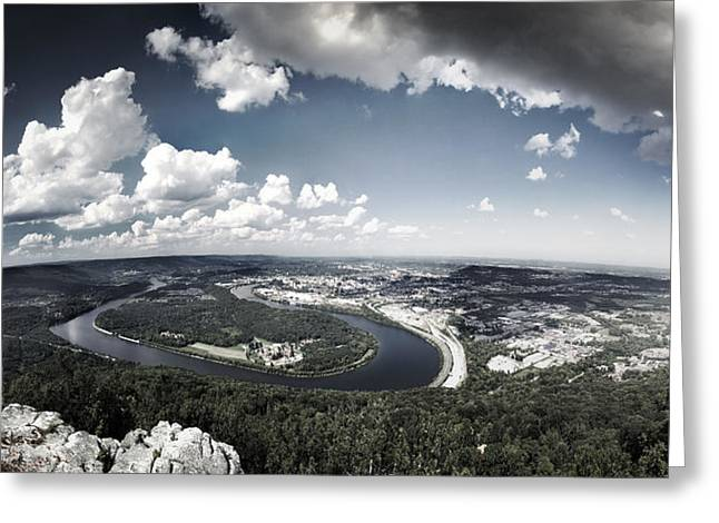 Tennessee River Greeting Cards - Point Park Overlook 2 Greeting Card by Steven Llorca