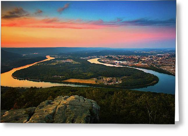 Point Park Overlook Greeting Card by Steven Llorca