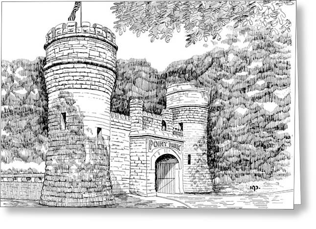 Point Park Greeting Card by Robert A Powell
