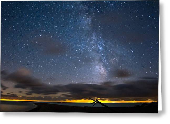 Star Points Greeting Cards - Point Pelee Milky Way Greeting Card by Cale Best