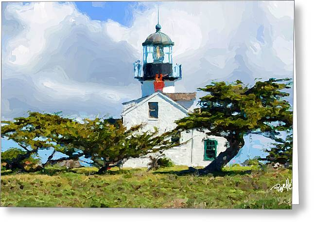 Recently Sold -  - California Beach Art Greeting Cards - Point Pinos Lighthouse - Pacific Grove CA Greeting Card by Jim Pavelle