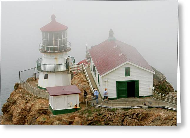 Point Reyes Lighthouse Greeting Card by Art Block Collections