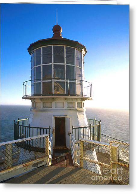 Uscg Greeting Cards - Point Reyes Lighthouse California Greeting Card by Jerry McElroy