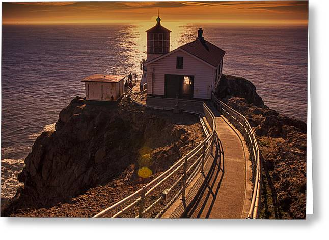 Points Greeting Cards - Point Reyes Lighthouse Greeting Card by Garry Gay